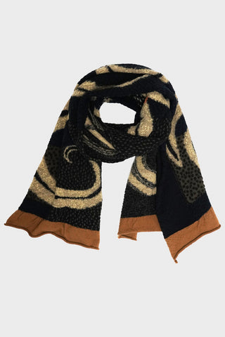 kapital Compressed Wool Scarf 5 RINGS - Yellow