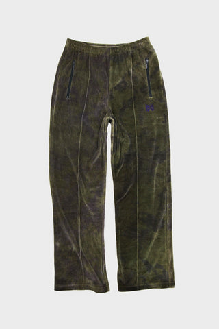 needles clothing japan Velour Track Pant - Olive