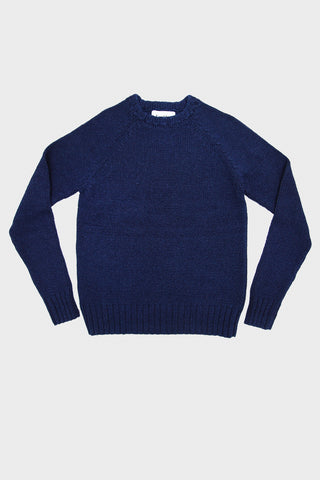 corridor clothing nyc Crew Neck Sweater - Rinsed Indigo