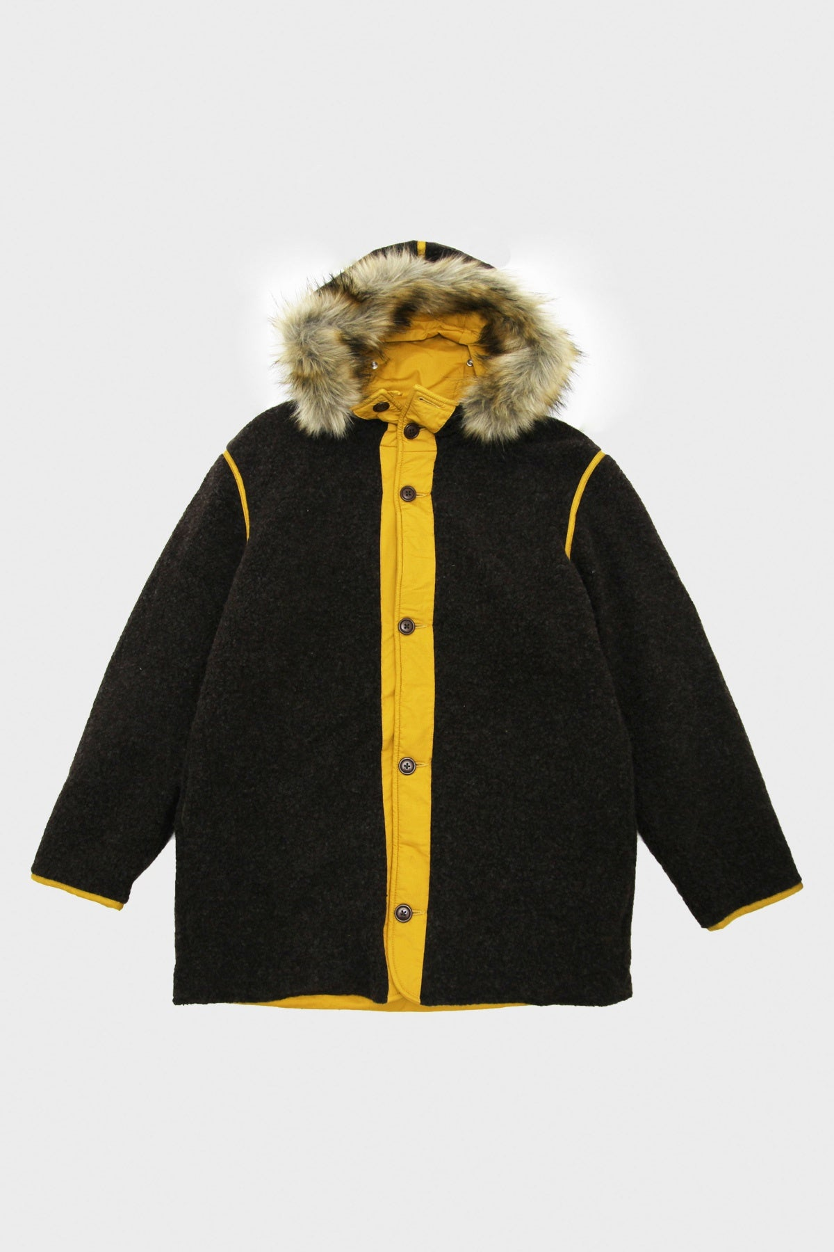 Beams Plus - Reversible Liner Parka - Brown/Mustard - Canoe Club