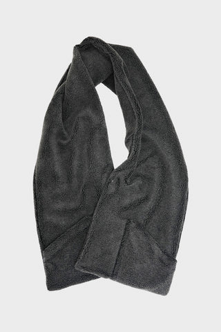 orslow Fleece Stole with Pocket - Charcoal Grey