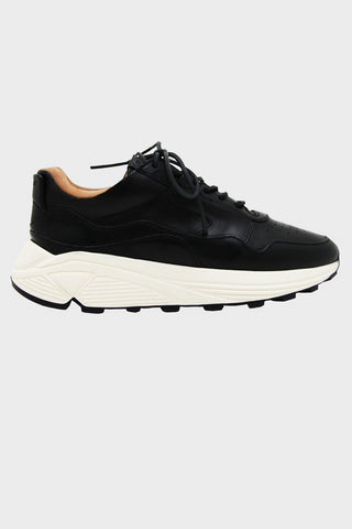Vinci Sneaker - Black Bianchetto Leather
