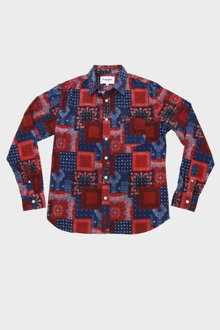 Bandana Flannel Long Sleeve