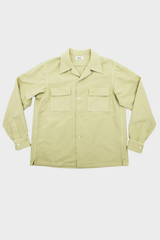 Garment Dyed Jacquard Open Shirt - Tea Green