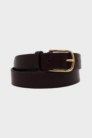 laperruque Belt - Ebony Leather and Brass Buckle