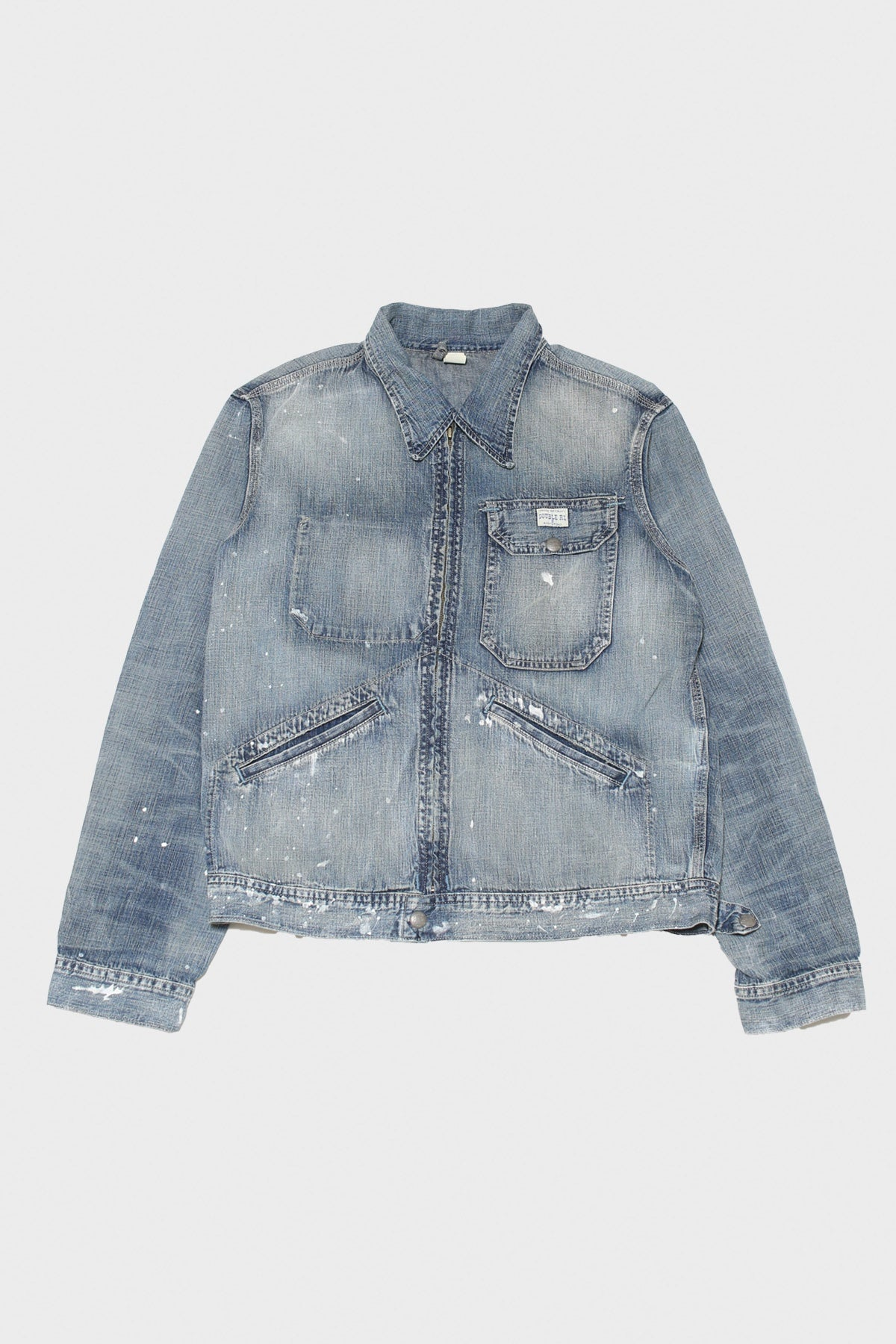 RRL - Distressed Indigo Denim Jacket - Billings Wash - Canoe Club