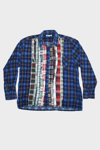 needles clothing japan Ribbon Flannel Shirt - Assorted #12 - Large