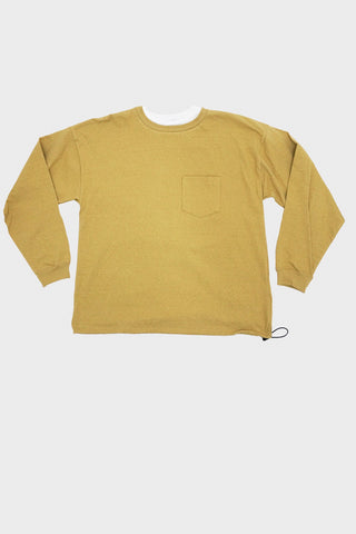 remi relief clothing japan Jersey x Polyester Grunge Long Sleeve Tee - Yellow