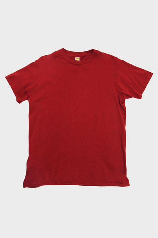 Velva Sheen Short Sleeve Rolled Tee - Burgundy