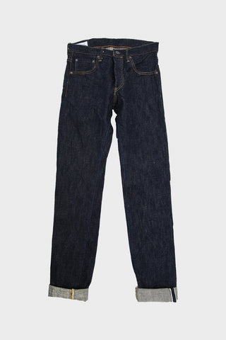 tanuki denim japan EHT - High Rise Taper Denim - 18oz Earth Indigo