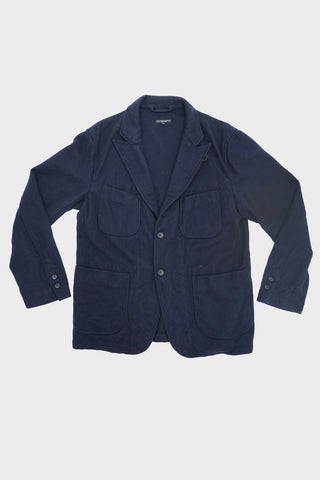 engineered garments New Bedford Jacket Wool Melton - Dark Navy