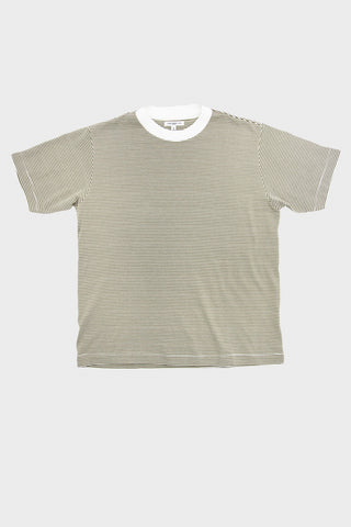 lady white co Wayde Stripe T-Shirt - Olive