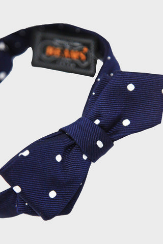 beams plus Bow Tie Silk Dot - Navy