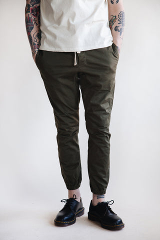 beams plus Gym Pants Slim Twill - Olive