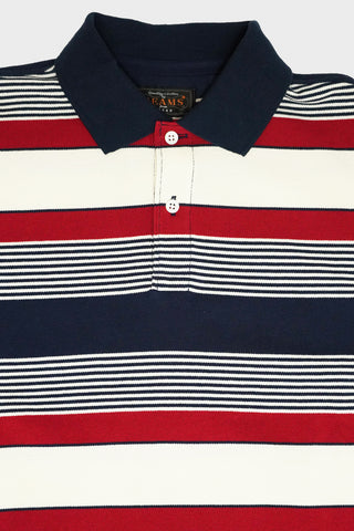 beams plus Pique Polo 40/2 Border - Navy
