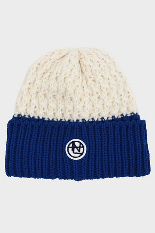 nanamica Beanie - Off White/Blue