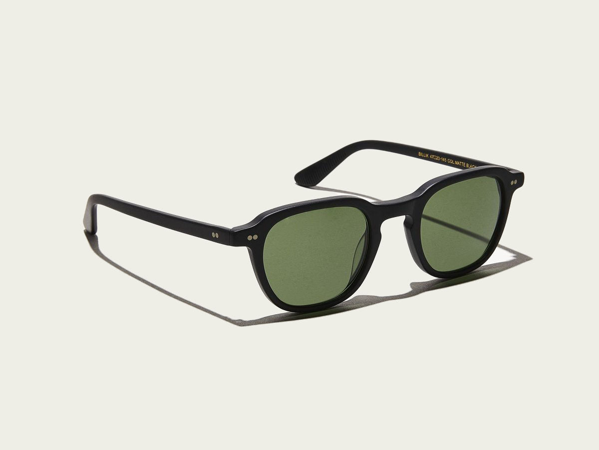 Moscot - Billik - Matte Black/G-15 Lenses - Canoe Club