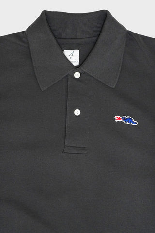 braggin' dragon Long Tail Polo - Charcoal