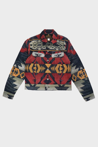 RRL Limited-Edition Denim Jacket - Red Multi