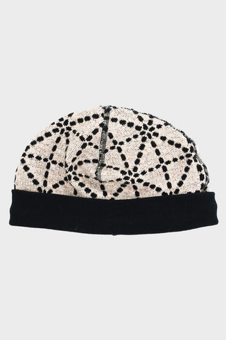 kapital DO-GI SASHIKO Fleecy Knit BEACH Cap - Ecru