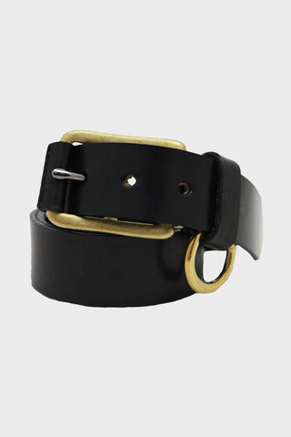 Stitched D-Ring Belt - Black