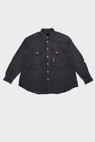 visvim indigo camping trading post find your happiness I.C.T. Grand River Long Sleeve - Crash Brown