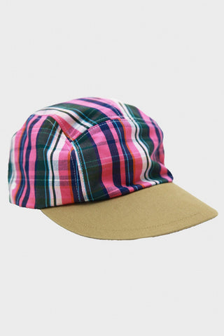 kapital OX Check x Chino CAMP Cap - Pink
