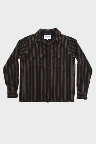 corridor nyc Winter Stripe shirt - Black Brown
