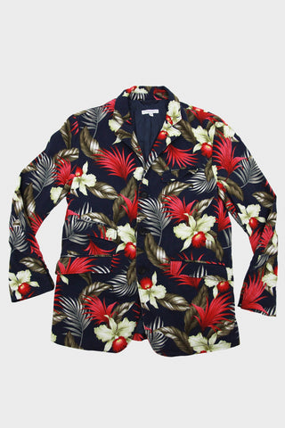 engineered garments Andover Jacket - Navy Hawaiian Floral Java Cloth