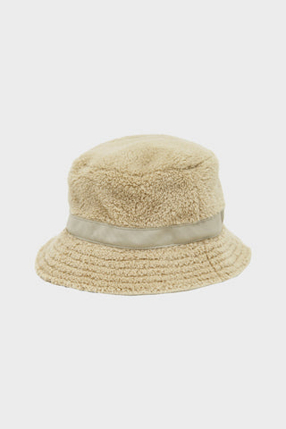 cableami Boa Fleece Bucket Hat - Beige