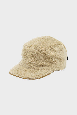 cableami Boa Fleece Cap with Drawcord - Beige
