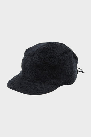 cableami Boa Fleece Cap with Drawcord - Black