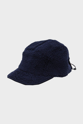 cableami Boa Fleece Cap with Drawcord - Navy