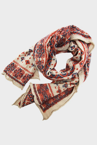 Compressed Wool Scarf COLORFUL BIG MAMA BANDANA - Ecru