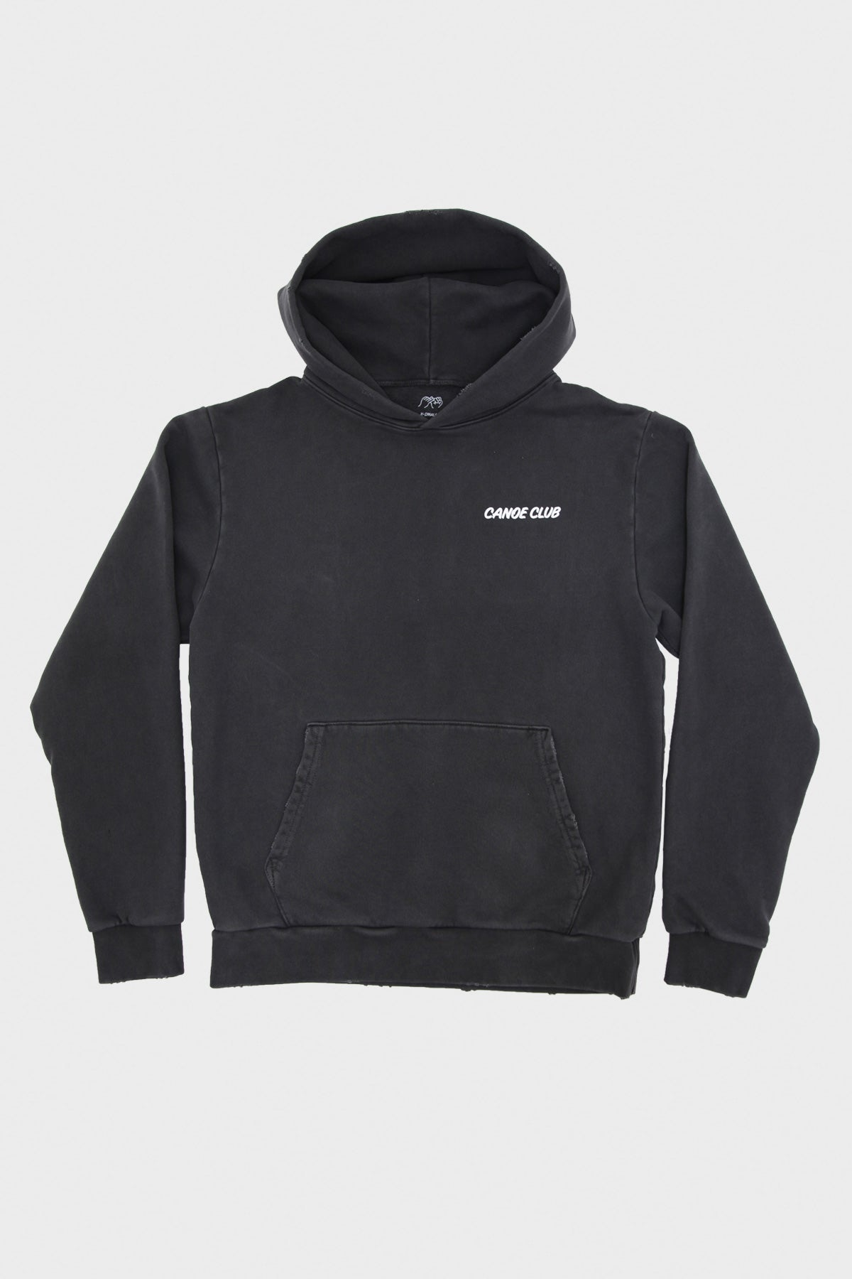 Canoe Club Collaborations - Canoe Club Hoodie - Pigment Dyed Black - Canoe Club