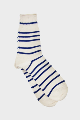 Recycled Cotton Stripe 3Q - Navy/Blue Stripe
