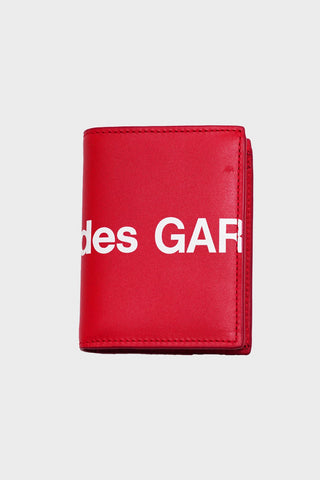 comme des garcons wallet Huge Logo Wallet - Red