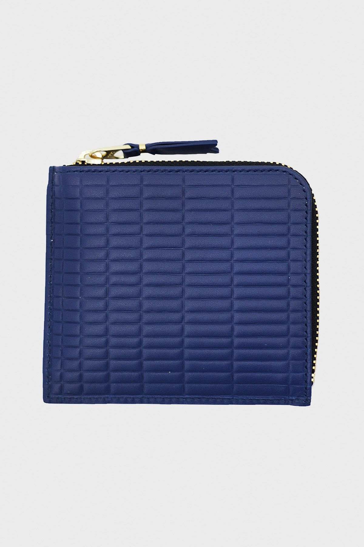 comme des garcons wallet Brick Line Half Zip Wallet - Blue