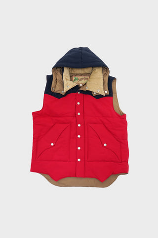 sugar cane clothing japan Padding Vest - Red/Navy