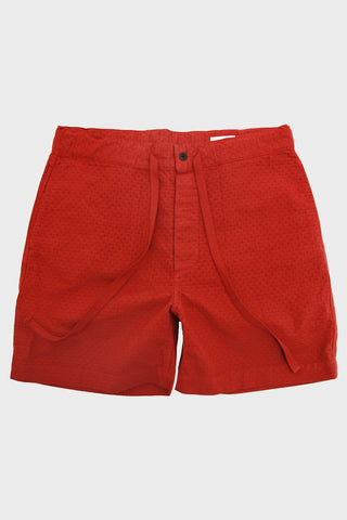 Chimala Jacquard Drawstring Short- Red