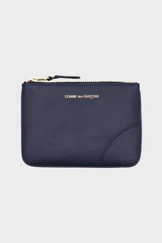 Classic Leather Pouch - Navy