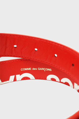 comme des garcons wallet Huge Logo Belt - Red