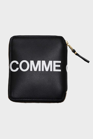 comme des garcons wallet Huge Logo Zip Wallet - Black