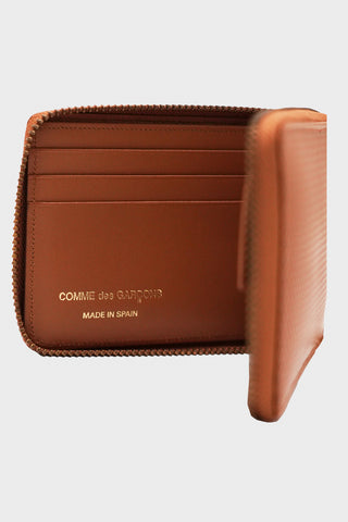 comme des garcons wallet Luxury Leather Line Wallet - Beige