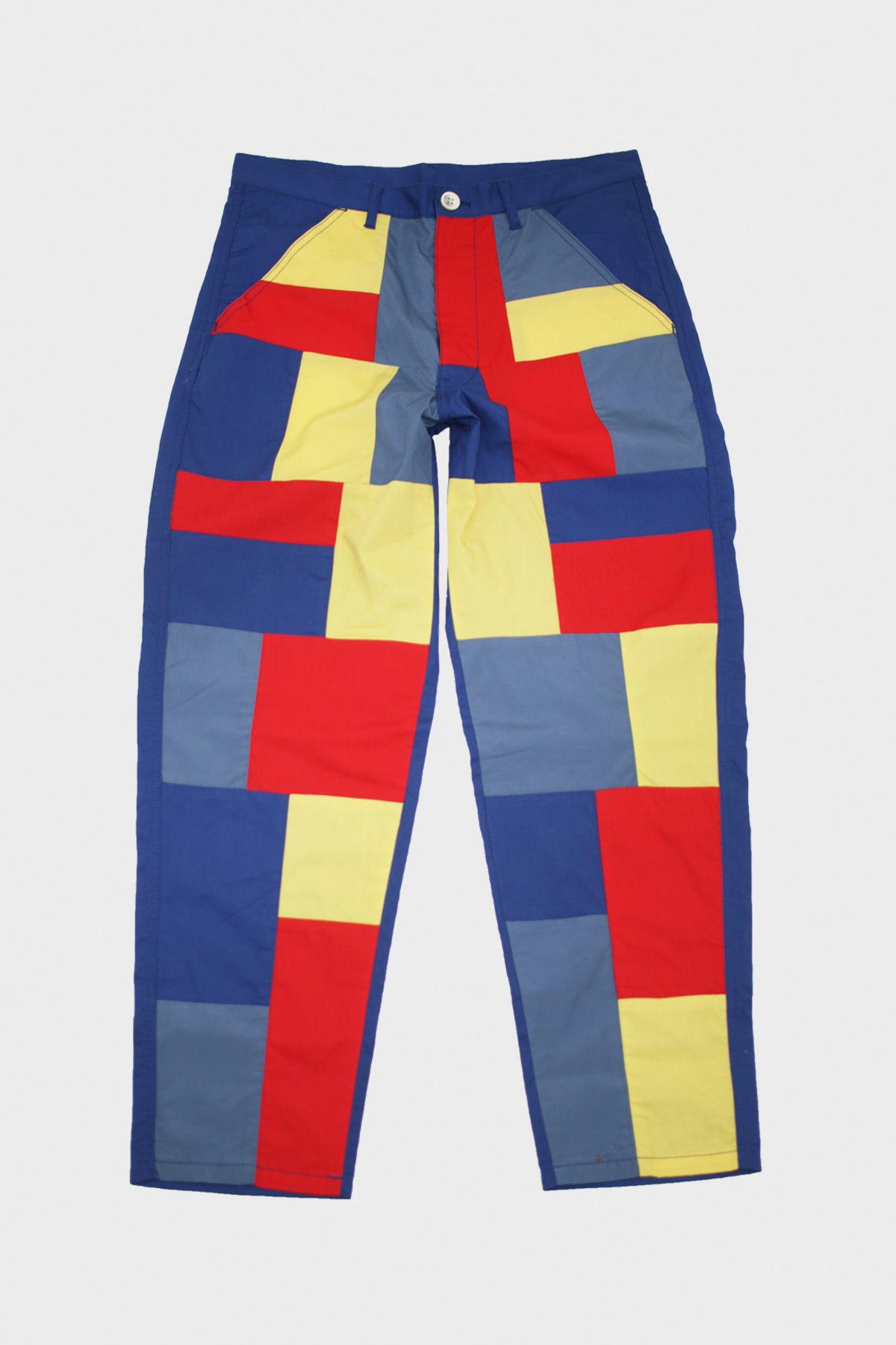 Comme des Garçons SHIRT - Woven Patchwork Pants - Red/Yellow/Blue - Canoe Club
