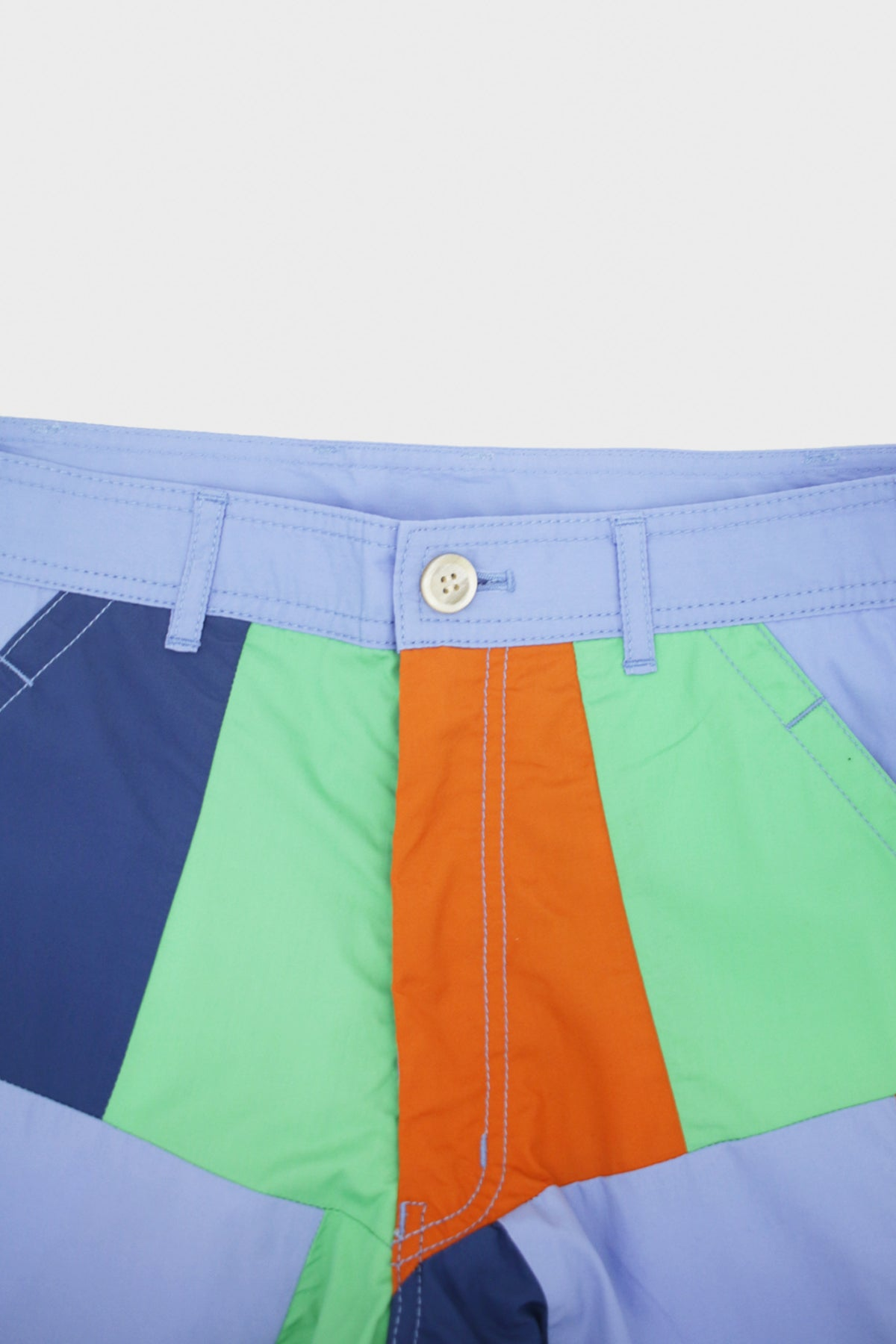 Comme des Garçons SHIRT - Woven Patchwork Pants - Green/Blue/Orange - Canoe Club