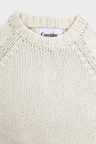 corridor clothing nyc Crew Neck Sweater - Natural Yarn