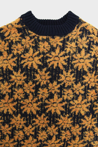 corridor nyc Floral Alpaca Crewneck sweater - Yellow