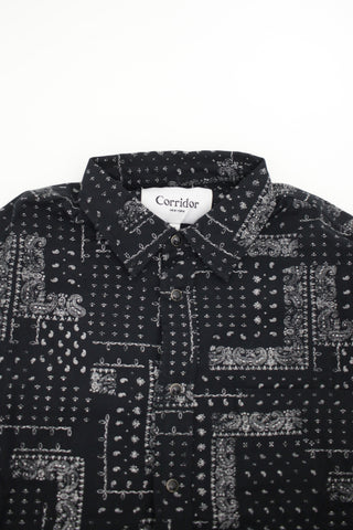 corridor nyc Twill Bandana Shirt - Black