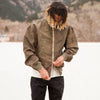 Nylon Uneven Dyed MA-1 Jacket - Khaki